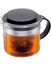 Bodum BistroNouveau zaparzacz do herbaty z tworzywa sztucznego, żaroodporne szkło, 1,5 litra), czarny