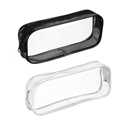 Cosmos Clear Portable Tool Pouch Pencil Case Bag Storage Holder with Zipper, Clear Travel Toiletry Bag (Tool Pencil Pouch)