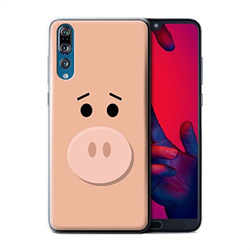 Price comparison product image STUFF4 Phone Case / Cover for Huawei P20 Pro / Hamm Pig Face Inspired Design / Cute Toy Characters Collection