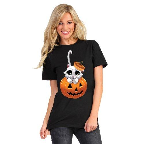 Morphsuits Digital Dudz Adorable Kitty Eyes Shirt, Black/Multi Print, Plus for $<!--$14.08-->