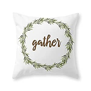 """Society6 Gather Throw Pillow Indoor Cover (18"""" x 18"""") with pillow insert"""
