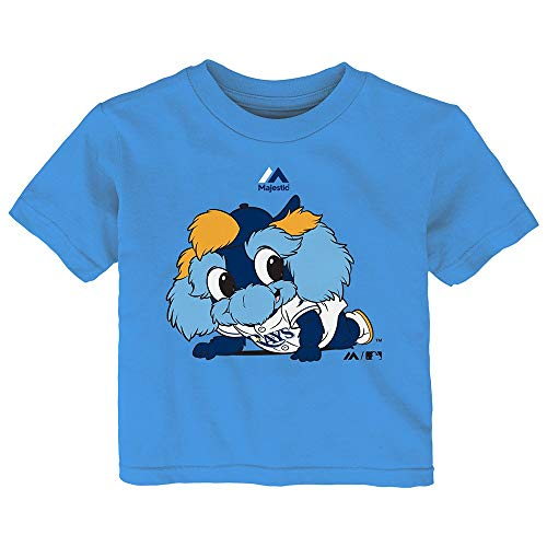 Outerstuff Tampa Bay Rays Majestic MLB Infant Light Blue Baby Mascot T-Shirt