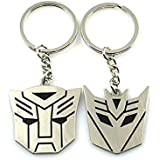 Metal Transformers Autobot & Decepticon Symbol Keychain [ONE PAIR]