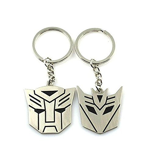 Optimus Prime Ring (Metal Transformers Autobot & Decepticon Symbol Keychain [ONE)