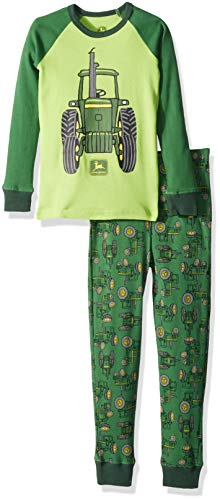 - John Deere Boys' Toddler PJ, Green, 4T