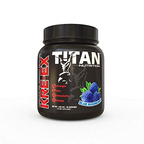 KRE EX: The Complete Pre-Workout Muscle Volumizer for Energy, Stamina, Strength, Size, and Pump (Blue Raspberry) by Titan Nutrition (Image #6)