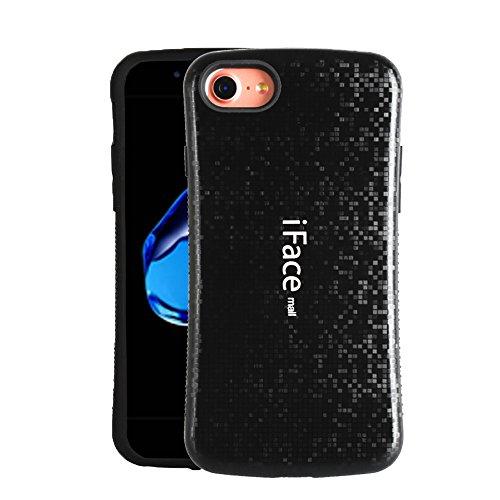 コレクション共産主義者尽きるiPhone8ケース iPhone7ケース iPhoneケース(iFacemallケース) 耐衝撃 モザイク様式 指紋防止 ケース カバー 黒 (Minofox)