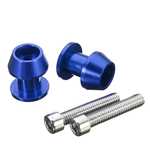 Motorcycle Tire Swing (CoCocina Pair 8mm Swing Arm Spools Sliders CNC Aluminum Screws For YAMAHA/HONDA/BMW - Blue)