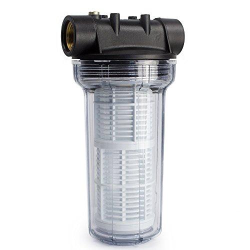AWM 2L Vorfilter 3000 l/h Wasserfilter Hauswasserwerk Pumpenfilter max. 4 bar, 1