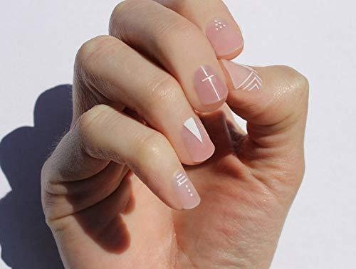White Inked Nail Wraps by Nail Wraps