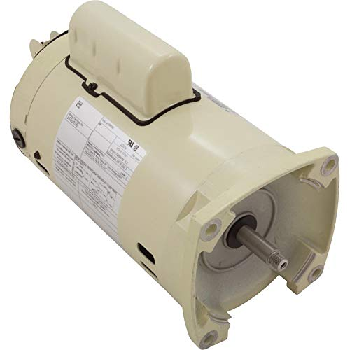 Pentair 355003S Almond 1 HP Single Phase Dual Speed Square Flange Motor Replacement, SuperFlo Inground Pool and Spa Pump