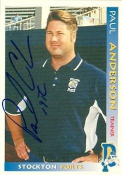 Paul Anderson autographed Baseball Card (Minor League) 1998 Grandstand - Baseball Slabbed Autographed Cards