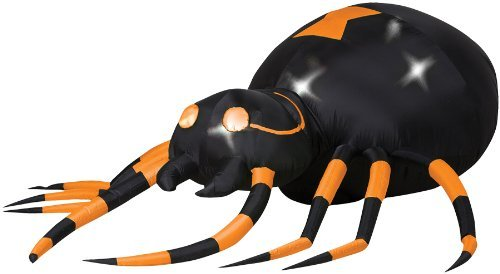 AIRBLOWN ANIMATED ORANGE SPIDER HALLOWEEN PROP Scary Gemmy Yard Decoration House - SS26431G (Wretched Animated Prop)
