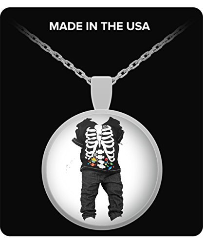 [Halloween Ghost Costume Jewelry For Kids - Skeletton Kid Necklace - Fun Halloween Gifts For Boys &] (Homemade Kids Halloween Costumes Unique)