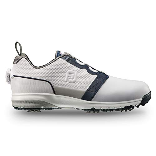 FootJoy Men's ContourFIT-Previous Season Style Golf Shoes White 9.5 M Navy, US