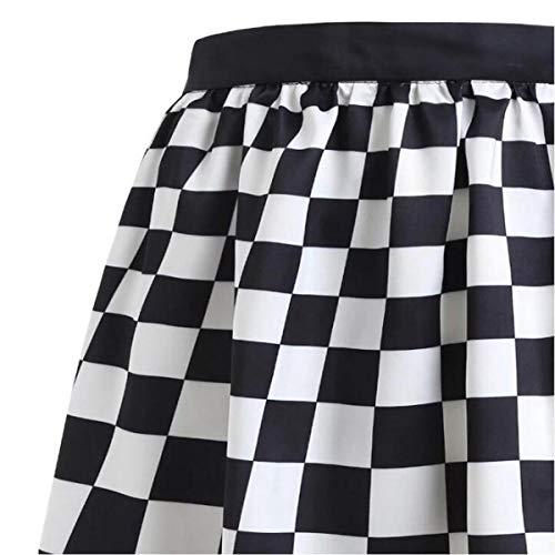 Capuchón de Cuadros Blancos Negros Faldas de Mujer de Cintura Alta ...