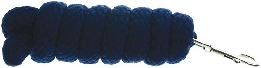 Hy - Ramal de soga extra gruesa para caballos (2m) (Azul marino)