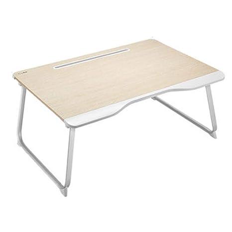 Folding table LVZAIXI Mesa de Cama pequeña Mesa portátil Ordenador portátil multifunción portátil