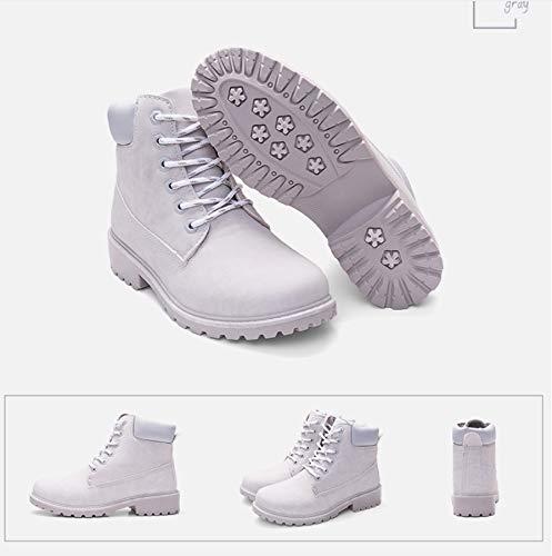 Pu Mujeres Tamaño Martin Calientes Senderismo De Para Sencillas Libre Grandes Planas Liangxie Zapatos Mujer Rosa Grande Al Aire Botas vBqwTafOnx
