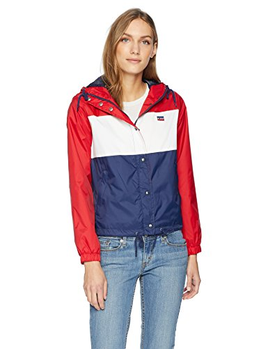 (Levi's Women's Retro Hooded Track Jacket, Rinse, X-Large)