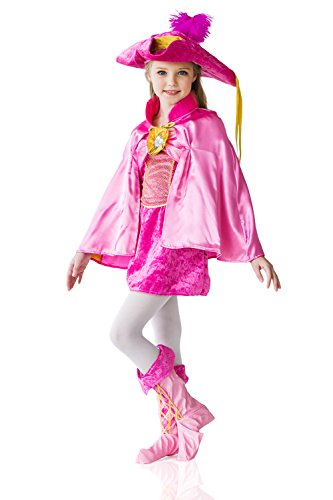 Kids Girls Three Musketeer Milady De Winter French Spy Renaissance Costume Party (3-6 years, (Cool Book Week Costume Ideas)