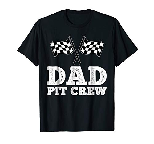 Dad Pit Crew | Hosting Car Race Birthday Party T-Shirt