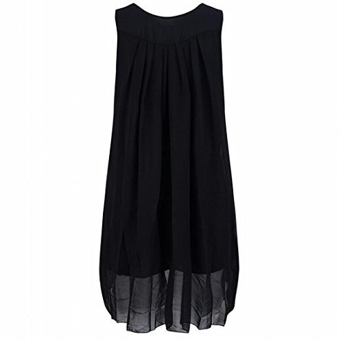 Neck Dress Comfort Hipster Sleeveless Womens Comfy Party Scoop Black Ewaq0xxO