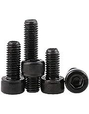 BOZONLI Koolstofstaal Binnenzeskantbouten en schroeven Zeskantschroef, Cup Head Bouts, M5*6mm,50 stuks