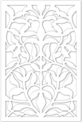 Acurio 4832ID-1-WH-OVB Lattice Olive Branch Panel Screen as Trellis, Patio & Outdoor Decor, White