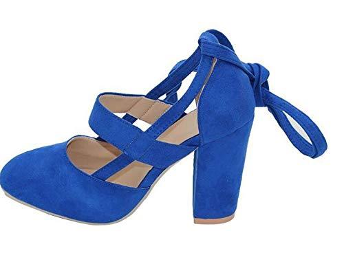 elepbaba High Heels 8CM Women Pumps Wedding Dress Shoes Woman Valentine Stiletto High Heels Shoes Blue