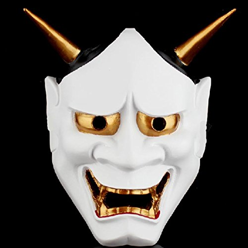 FAVOLOOK Buddhist Evil Mask & Vintage Horror Hannya Mask for Masquerade Resin Halloween Costume Devil Theme Party