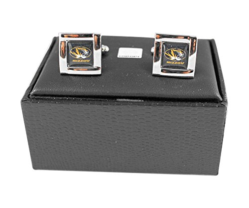NCAA Missouri Tigers Square Cuff LinksSquare Cuff Links, Team Color, 4 ()