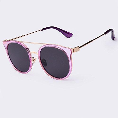 calidad C06 TIANLIANG04 de Gafas Gafas Vintage C04 piernas UV400 de gafas Doppio sol alta aleación redonda en de revestimiento sol Ponte xYArpqRYw