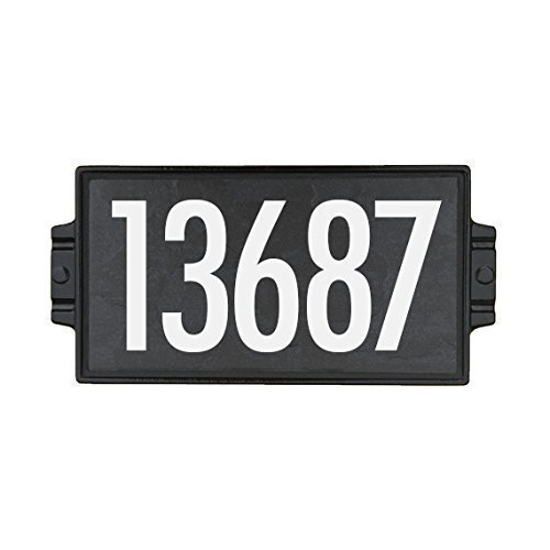 Charcoal Stone Address Plaque 5 by Craftsman House Numbers