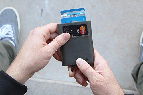 Andar Slim Rfid Minimalist Card Case Full Grain Leather