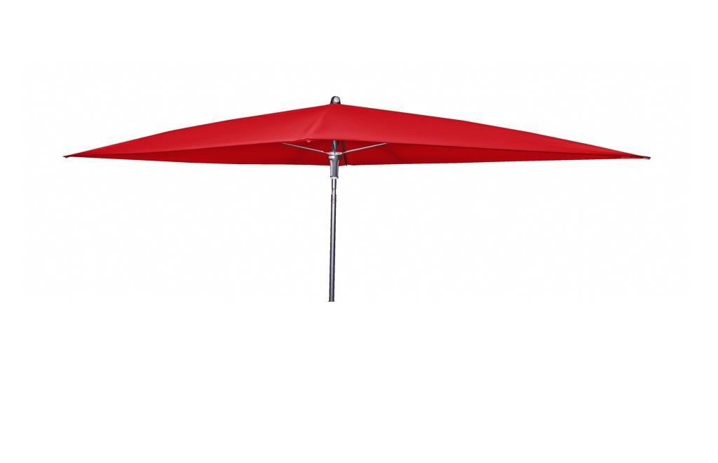 Doppler Absolut wasserdichter Gartenschirm Waterproof 225x120 ohne Volant, UV-Schutz 80, Farbe rot