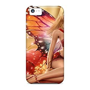 High Grade Jessicacase Flexible Tpu Case For Iphone 5c - Butterfly Angel