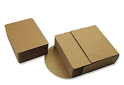 Amazon get orange 100pcs blank kraft paper business cards word get orange 100pcs blank kraft paper business cards word card message card diy gift card colourmoves