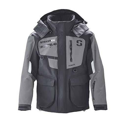 Striker Ice Climate Jacket Black/Grey, X Large (Ice Suit)