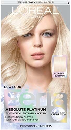 L'Oréal Paris Feria Multi-Faceted Shimmering Permanent Hair Color, Extreme Platinum, 1 kit Hair Dye