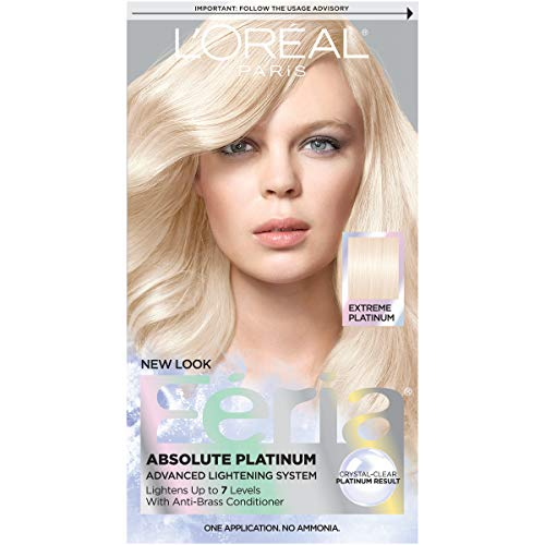 L'Oréal Paris Feria Multi-Faceted Shimmering Permanent Hair Color, Extreme Platinum, 1 kit Hair Dye (Best Box Dye To Lighten Dark Hair)