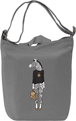 Zebra chic Borsa Giornaliera Canvas Canvas Day Bag| 100% Premium Cotton Canvas| DTG Printing|