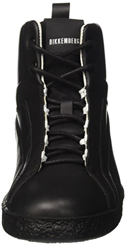 Bikkembergs Best 954, Sneaker a Collo Alto Donna Nero (Blackgrey)