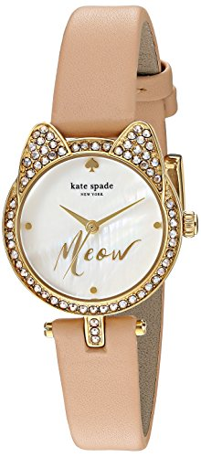Women's 'Cat Case' Quartz Stainless Steel and Leather Casual Watch