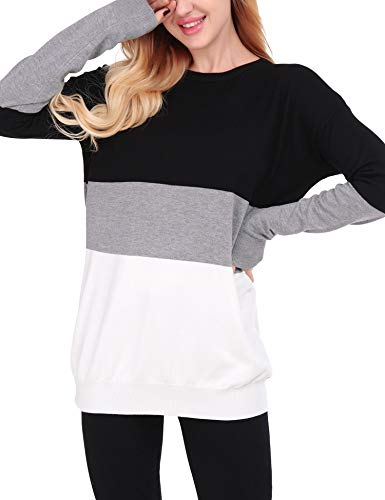 Uniboutique Womens Crewneck Long Sleeve Casual Pullover Fall Sweaters