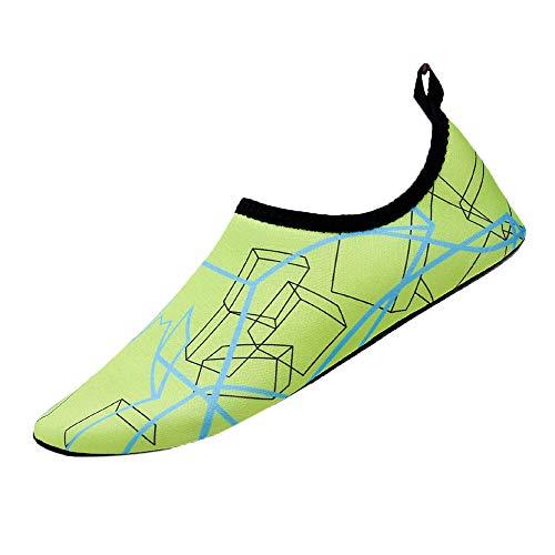 JJLIKER Men's Womens Unisex Quick-Dry Water Shoes Aqua Socks Barefoot for Beach Swim Surf Yoga - Aqua Mens Socks Strappy