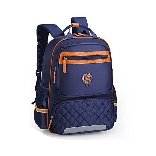 Nylon Backpack Bags Boys School Royal Wear Book Design Reflective Night Girls Rucksack Children's Bags Blue Daypack Student School Waterproof resistant for ZHIMABABY A4FqxOwa