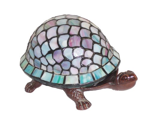 Stained Glass Lamp Kit - Tiffany-Style Turtle Accent Lamp