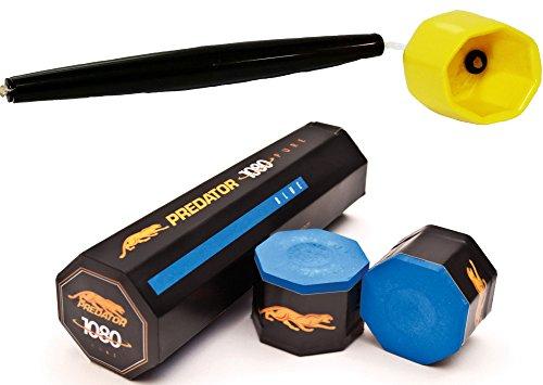 (5 Pieces of Predator 1080 Pure Chalk w/Octagon Chalk Holder Yellow)