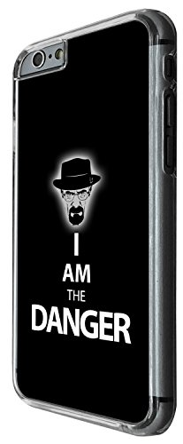 1454 - Cool Fun Trendy funny I am the danger breaking bad Design iphone 4 4S Coque Fashion Trend Case Coque Protection Cover plastique et métal - Clear